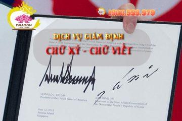 Giám định chữ ký ở đâu và cần những giấy tờ gì?